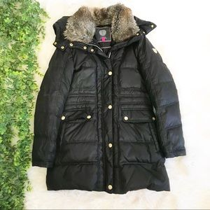 Vince Camuto Black Puffer Downfilled Jacket